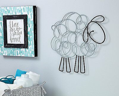 NoJo Good Night Sheep Wire Wall Art, Black & White *  Hard to find *