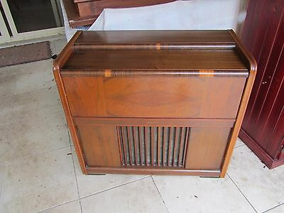 Vintage 1950s Philips Gramophone in Wooden Cabinet