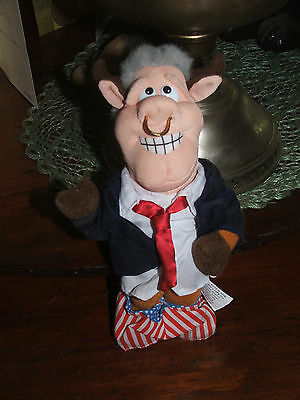 1997 Bull Clinton Infamous Meanies Plush Beanbag Toy