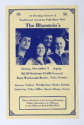 The Bluestein Family 1982 Dec 5 Kate Buchnan Room Humboldt State CA Poster