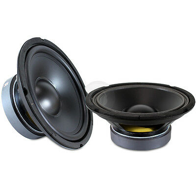 "Pair 8"" Bass Speaker Cone Replacement Hifi Car Subwoofer Drivers 500W UK Stock"