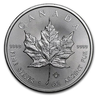 Here in Stock 2017 Canada Silver Maple Leaf  1 OZ SILVER  COIN