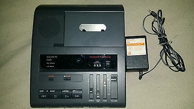 Sony BM-87DST Dictator / Transcriber Cassette With AC Adapter.