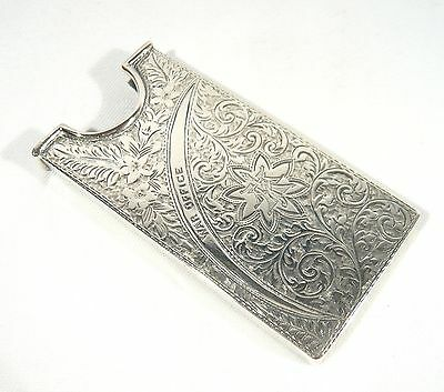 1902 STERLING Silver WAR OFFICE Business CARD Case