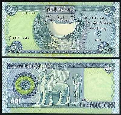 New Iraqi Dinar Uncirculated 50 x 500 Iraq Banknotes in a lot/bundle/pack! (IQD)