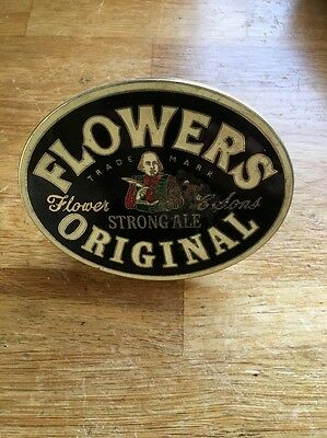 FLOWERS STRONG ALE BEER TAP BADGE, Decal, Label, Man Cave