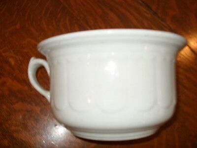 Antique White Ironstone chamber pot commode with handle