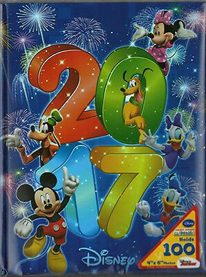 """Disney Exclusive 2017 Mickey & Gang Photo Albums Holds 100 4""""X6"""" Photos"""