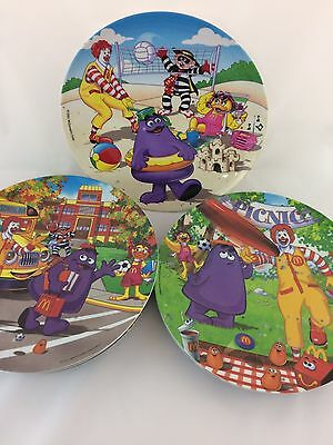 Ronald McDonald Collectible Plastic Plates lot of 9 Three Designs 2001 2004