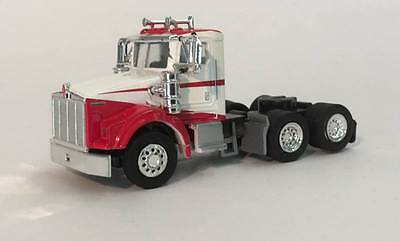 KENWORTH T-800 TRUCK Dual axle Day Cab Red & White HO 1/87 Scale Promotex 6565
