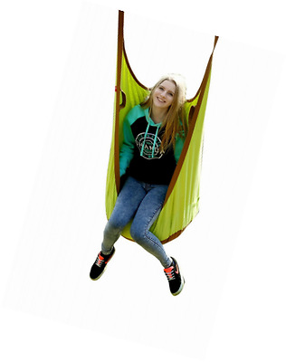 HappyPie Frog Folding Hanging Pod Swing Seat Indoor and Outdoor Hammock for Chil