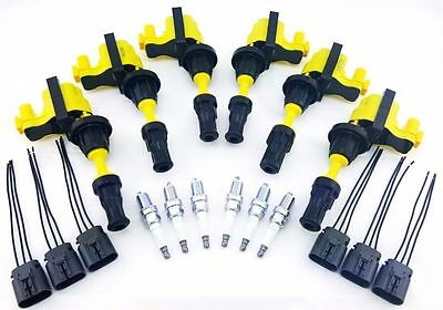 Fairlady Z 300Zx Ignition Coils & Ngk Spark Plugs Wire Harness Repair Kit V6 3L