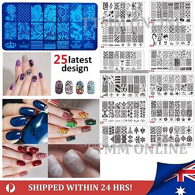 2019 Nail Art Stamp Template Image Polish Stamping Plate Manicure Stencil Design