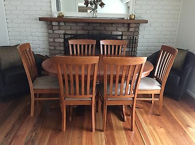 Solid Extendable Timber Dining Set (4 to 6 Seater)