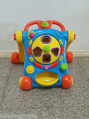 baby walker with music and shape sorter educational toy