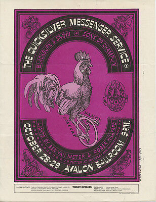 Family Dog 32 The Chicken on the Unicycle Handbill  Mailed 1966 Oct 25