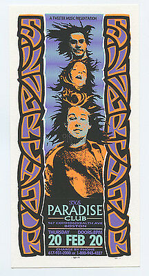 Silverchair 1997 Feb 20 Paradise Club Boston Handbill Mark Arminski