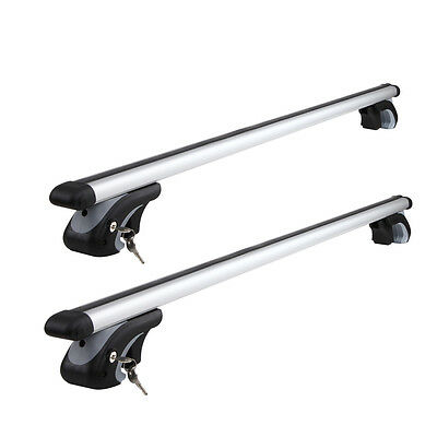 Giantz 1200mm Universal Aluminium Lockable Roof Rack - Silver
