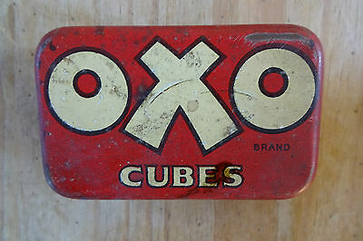 Vintage Tin Oxo Cubes used to hold 6 cubes