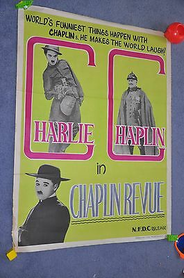 Original Charlie Chaplin Poster from India vintage