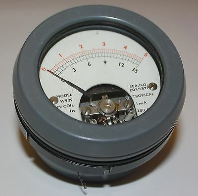 Moving Coil Meter, 1mA FSD, Scale 0 - 5 And 0 - 15, GWO