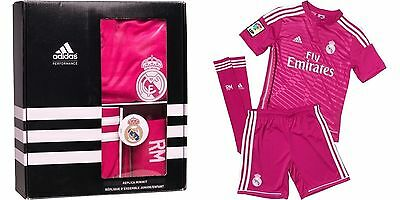 Adidas Performance 2014-15 Real Madrid Away Mini Pink Kit 3Pieces Size 7-8Y_ 514