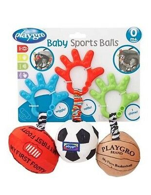 Playgro Baby Sports Ball Trio-BRAND NEW. (10% off use code: C10AU)