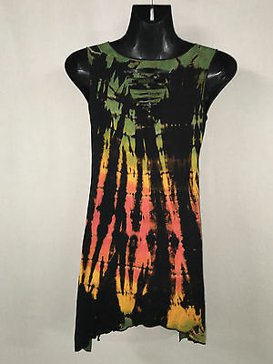 Lot of 5 stretch dresses/tops.Goth.Slashed detail front and back.Will fit many s