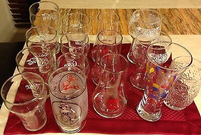 Lot Of 15 Collectible Glasses Pepsi Cola 7 Up Coca Cola Bud Light And More
