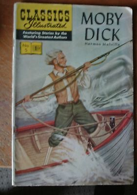 MOBY DICK No.5 CLASSICS ILLUSTRATED  ( 1943 )
