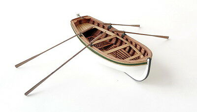 Four-oared boat scale 1/36 wooden kit model