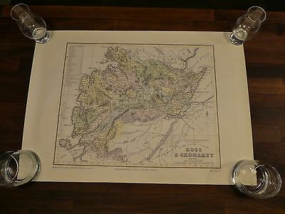 Two Reproduction Caledonian Maps Inverness Skye Wester Ross Sutherland Cromarty