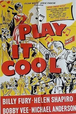 """PLAY IT COOL"" (1962) original UK 1 sheet poster (Billy Fury, Helen Shapiro)"