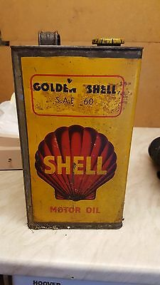 Vintage shell 1930s/40s gallon oil can