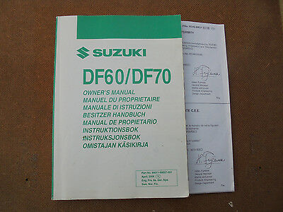 suzuki df60/df70 outboard motor owner`s manual,in 8 languages