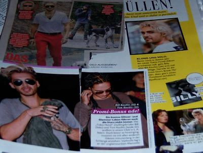 Tokio Hotel Bill Kaulitz Tom 32 pc German Clippings Collection Full Pages Poster