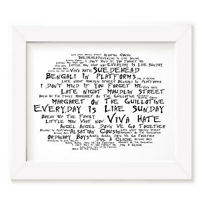 `Noir Paranoiac` MORRISSEY Art Print Typography Album Song Lyrics Signed Poster
