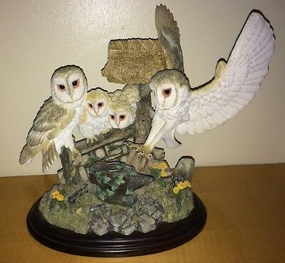 Country Artists Barn Owl Family