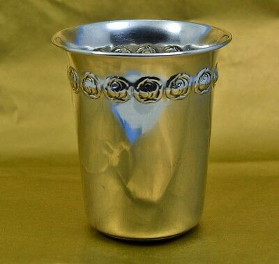 "antique Jewish silver Kiddush cup engraved 800 silver 2.3/4"" high x 2.3/8"" wide"