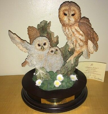 Country Artists Owl Family Herald Of Spring L/e 2,500