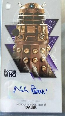 DOCTOR WHO Autograph Card  THE TENTH DOCTOR ADVENTURES - NICHOLAS BRIGGS DALEK