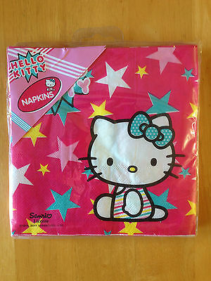 Hello Kitty Paper Napkins 2 ply - pack of 20 - NEW