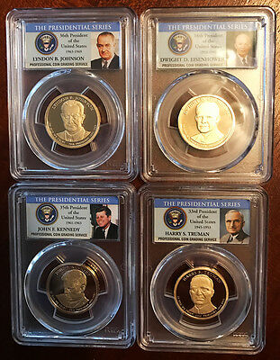 2015 S Presidential Dollar Set PCGS PR69DCAM ~ All 4 ~ Free Shipping