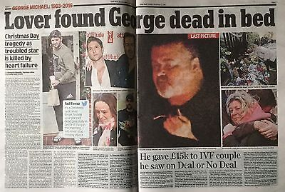 GEORGE MICHAEL - RECLUSIVE LAST MONTHS - Daily Mail Newspaper 27th December 2016