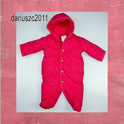 Polo Ralph Lauren Baby Girl's Quilted Snow Suit Bunting Size 9 months Pink