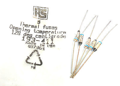 Rs Thermal Fuses 128 C Qty 5.