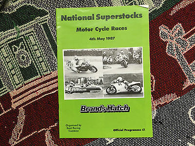 1987 Brands Hatch Programme 4/5/87 - National Superstocks Motor Cycle Races