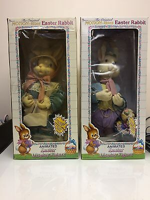"""Telco Motionette Easter Rabbit Boy And Girl 24"""" Electric Hard To Find"""