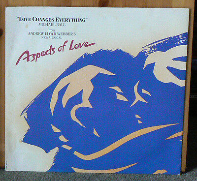 """Michael Ball - Love Changes Everything Aspects Of Love 12"""" Extended Play Vinyl"""