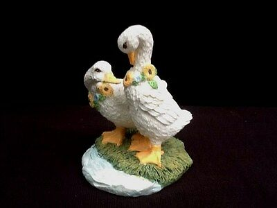goose Geese figurine Sunflowers Young's China